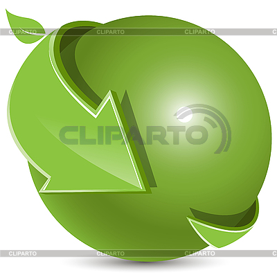 Ball and green arrows   Stock Vector Graphics  ID 3130931