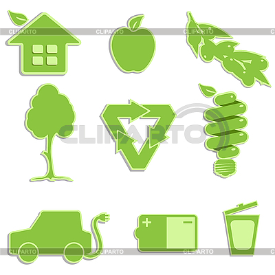 Green icons | Stock Vector Graphics |ID 3130973