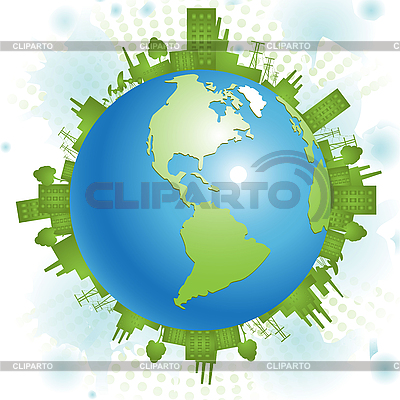 Green planet | Stock Vector Graphics |ID 3130985