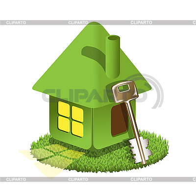 Green house and key | Stock Vector Graphics |ID 3131081
