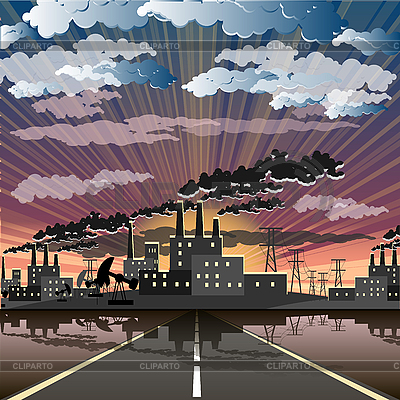 Industrial city | Stock Vector Graphics |ID 3131139