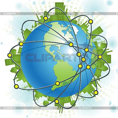 Industrieller Planet | Stock Vektorgrafik |ID 3131143