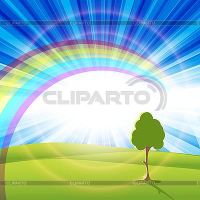 Regenbogen und Baum | Stock Vektorgrafik |ID 3135200