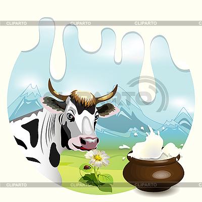 Krowy i mleka | Klipart wektorowy |ID 3135242