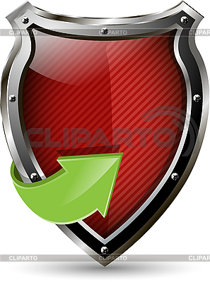 빨간색 방패   벡터 클립 아트  ID 3173844