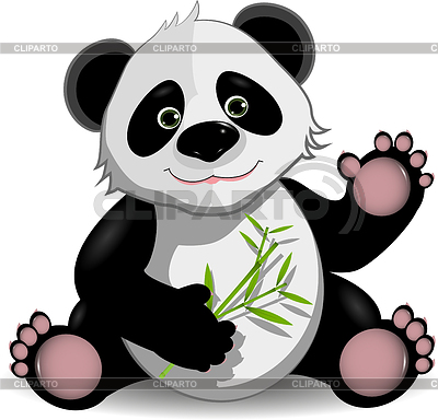 Funny panda | Stock Vector Graphics |ID 3295920