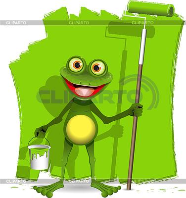 青蛙画家 | 向量插图 |ID 3353633