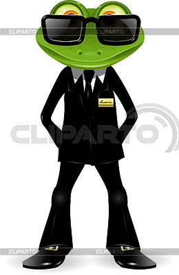 Frog security guard | Stock Vector Graphics |ID 3358805