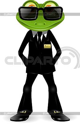 青蛙保安员 | 向量插图 |ID 3358805