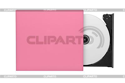 Portable Slim zewnętrzny CD / DVD ROM   Foto stockowe wysokiej rozdzielczości  ID 3098466