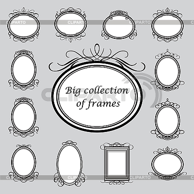 Oval frames | Stock Vector Graphics |ID 3099145