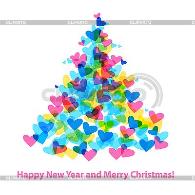 Weihnachtstanne aus Herzen | Stock Vektorgrafik |ID 3099153