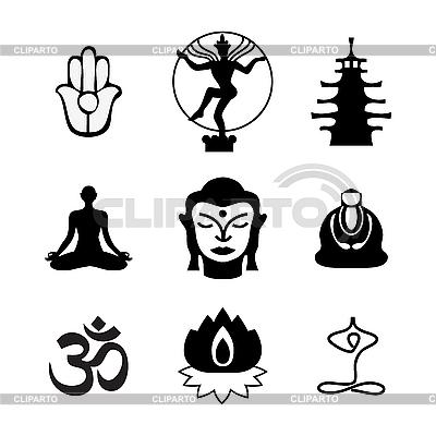 Buddha icons | Stock Vector Graphics |ID 3099177