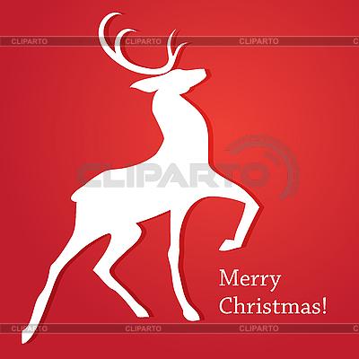 Merry Christmas karty z jelenia | Klipart wektorowy |ID 3099201