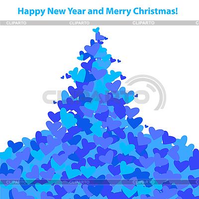 Christmas Tree of hearts | Stock Vector Graphics |ID 3099207