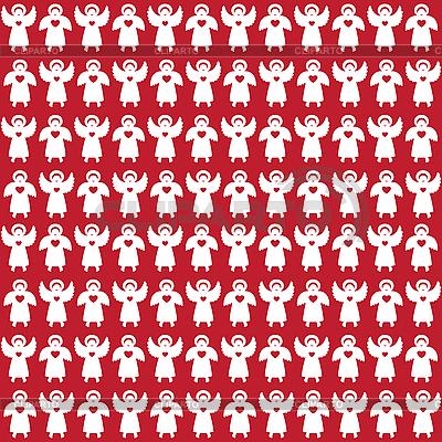 Patrón con ángeles | Ilustración vectorial de stock |ID 3099229