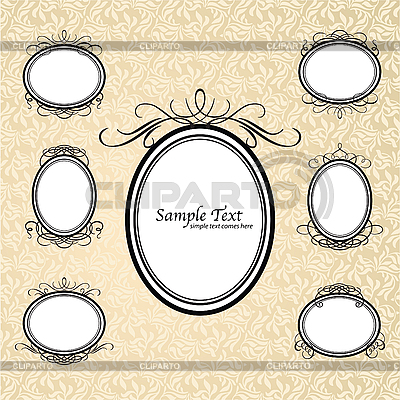 Vintage oval frames | Stock Vector Graphics |ID 3099237