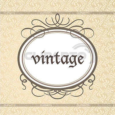 Vintage oval frame | Stock Vector Graphics |ID 3099239