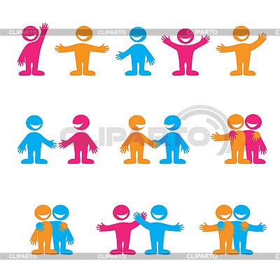 Zeichen mit Menschen | Stock Vektorgrafik |ID 3102204