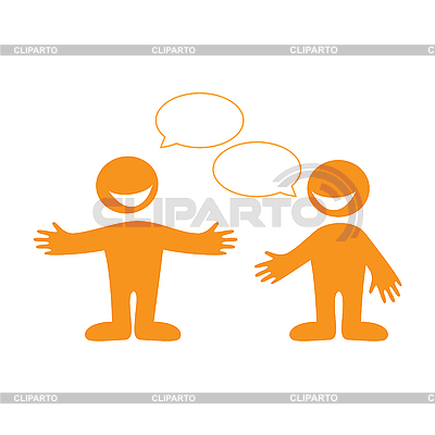 Humans with empty chat bubbles | Stock Vector Graphics |ID 3102340