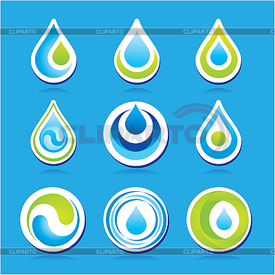 Water drop icons | Stock Vector Graphics |ID 3102342