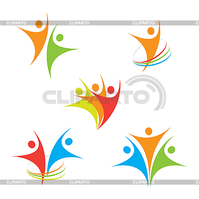 Ikony z mężczyznami | Klipart wektorowy |ID 3102357