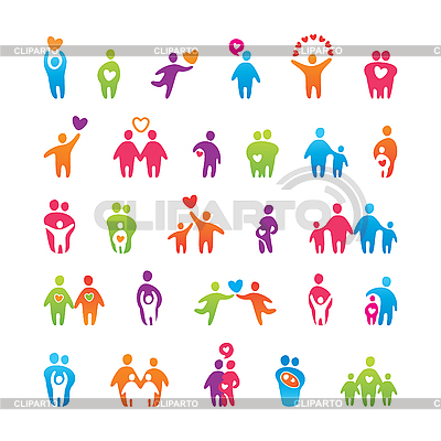 Set of love and familry icons | Stock Vector Graphics |ID 3102445