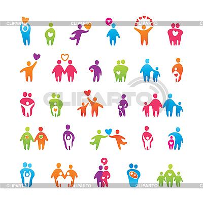 Set von Icons - Familie und Liebe | Stock Vektorgrafik |ID 3102445