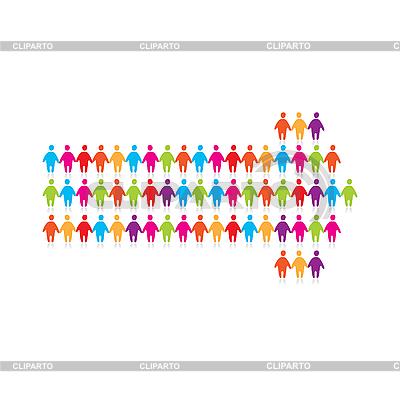 Arrow of people   Stock Vector Graphics  ID 3103281