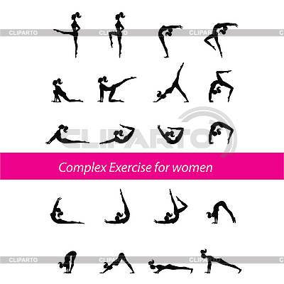 Complex Exercise for women | Stock Vector Graphics |ID 3103293