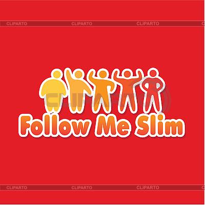 Follow me slim   Stock Vector Graphics  ID 3103317