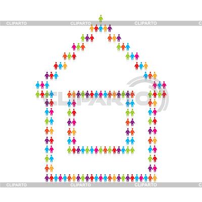 Icono de la casa para que la gente | Ilustración vectorial de stock |ID 3103375
