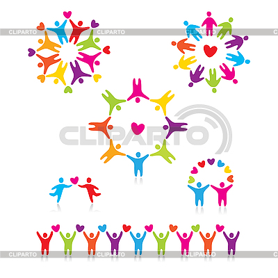 Connected people symbols | Stock Vector Graphics |ID 3103402