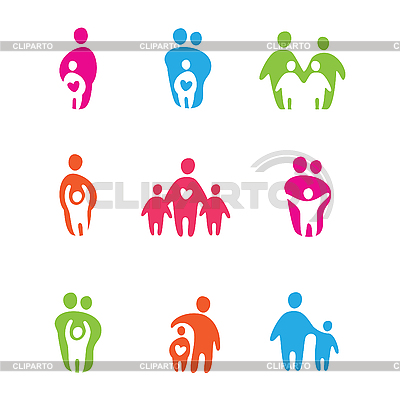 Parents and children | Stock Vector Graphics |ID 3103433
