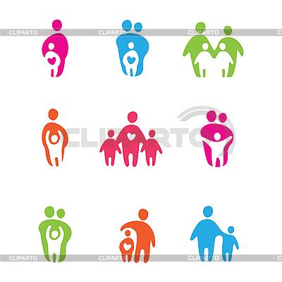 Rodzice i dzieci | Klipart wektorowy |ID 3103433