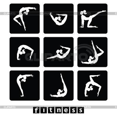 Set fitness icons | Stock Vector Graphics |ID 3103489