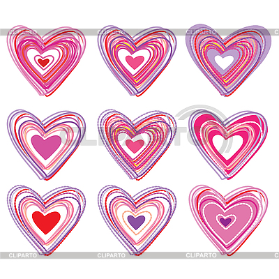 Set of hearts | Stock Vector Graphics |ID 3103500