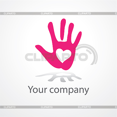 Hand with heart | Stock Vector Graphics |ID 3103536