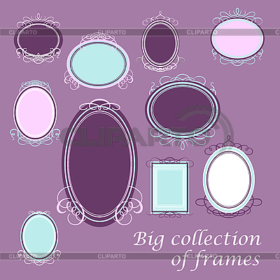 Big collection frames | Stock Vector Graphics |ID 3126859