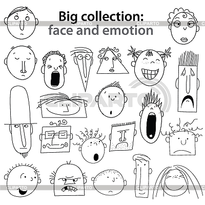 Sammlung face emotion | Stock Vektorgrafik |ID 3126869