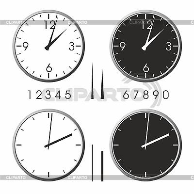 사무실 시계 | 벡터 클립 아트 |ID 3100037