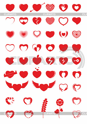 Heart Icons | Stock Vector Graphics |ID 3100041