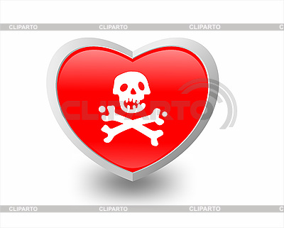 Herz und Knochen | Stock Vektorgrafik |ID 3100061