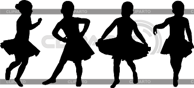 Рисунок танцующей девушки
