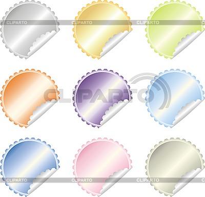 Kolorowe etykiety | Klipart wektorowy |ID 3102347