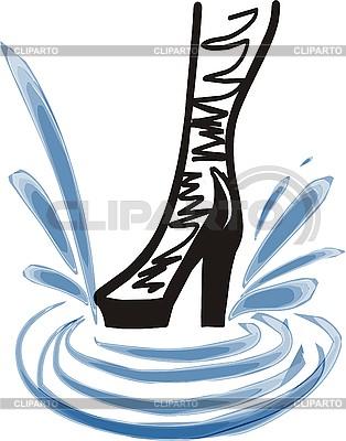时尚女人`飞溅启动 | 高分辨率插图 |ID 3107719