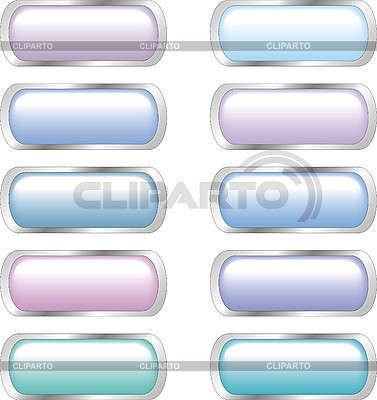 Set of glossy web buttons | Stock Vector Graphics |ID 3107743