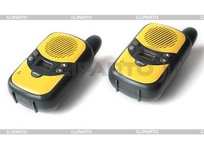 Yellow walkie talkie | High resolution stock photo |ID 3115558