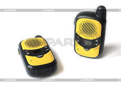 Yellow walkie talkie | High resolution stock photo |ID 3115559