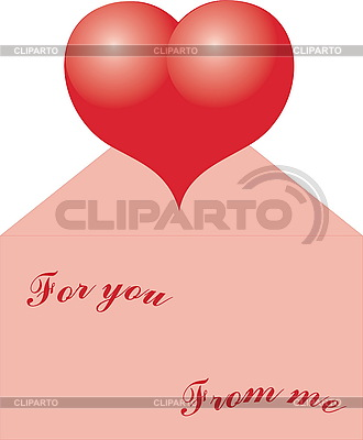 Rotes Herz in einem Umschlag | Stock Vektorgrafik |ID 3118717